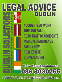 Dublin Solicitors PERSONAL INJURY ACCIDENT AT WORK, ROAD