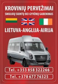 Patikimas siuntų pristatymas, Siuntiniai Anglija- Lietuva uk United Kingdom