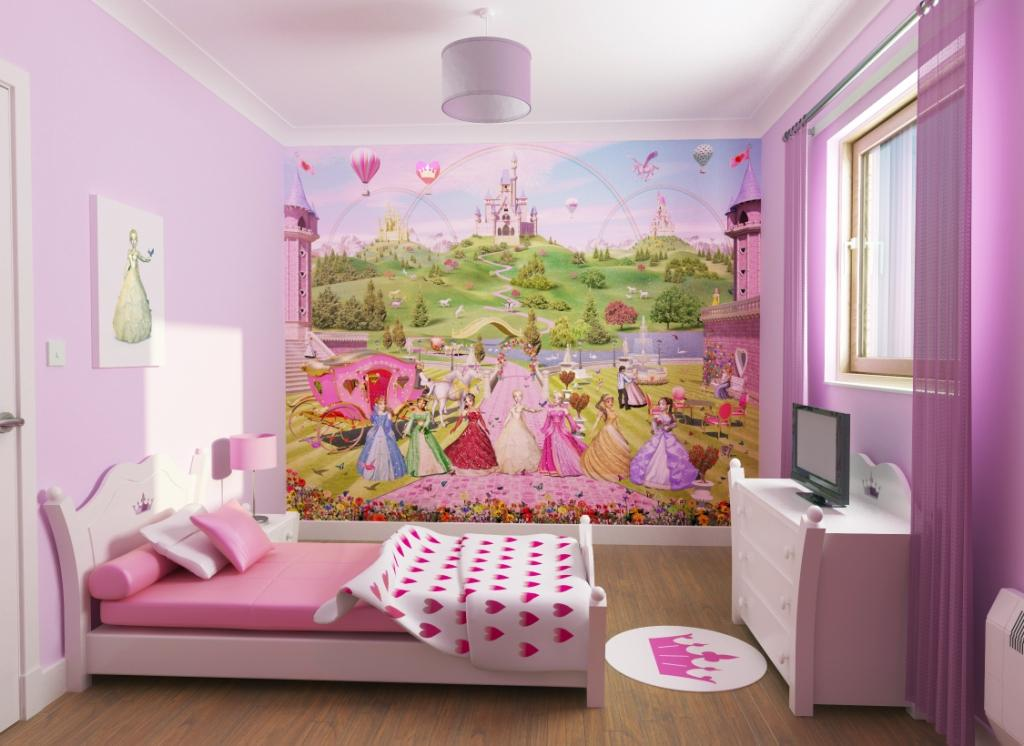 Kids wallpaper murals 1000sads for Fairy princess wall mural