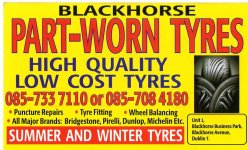 BLACKHORSE TYRES part worn tyres in CABRA Dublin 7