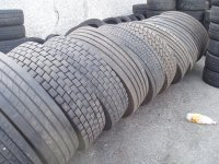 truck new and partworn tyres, partworn tyres 10-15mm tread left