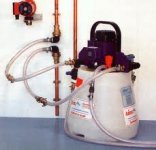 Power flush cleaning your central heating system