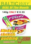 "Mlekpol cheese pudding ""serek pyszny"" 140g € 0.33 Baltic Way мартовские скидки"