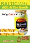 Mayonnaise Winiary 700ml € 2.42 Baltic Way мартовские скидки