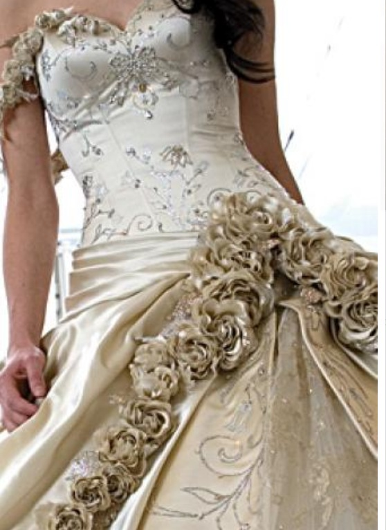 Gold Wedding Gown For Sale 1000sADS