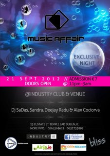 First MusicAffair party at the Industry Club & Venue on 21st of September