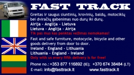 DELIVERY IRELAND-ENGLAND-LITHUANIA