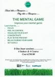 Improve Your Golfing Skills The Mental Game Tallaght or Rathfarnham Dublin