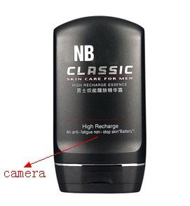 Motion Detection Men Tonic Lotion Bathroom Spy Camera