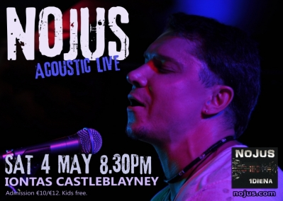 Acoustic solo performance by Lithuanian singer and songwriter NOJUS in CASTLEBLAYNEY