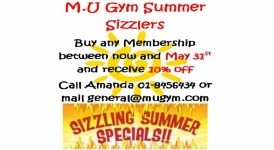 M.U Gym Summer Sale now on!