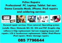 PcDoc Repairs,GAMING,LAPTOP,PC,SAT NAV, iPHONE REPAIRS