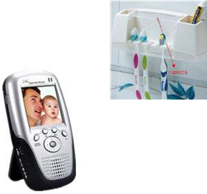 Kajoin wireless toothbrush box hidden camera 1000sads for Bathroom hidden camera photos
