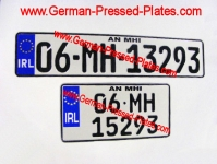 German Number Plates Oblong and Square Pressed New