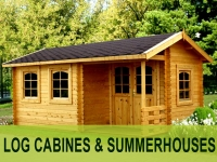 Log cabin/Summerhouse Storage Shed Garage Pergola Decking Outdoor fireplaces
