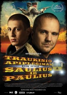 FILMAS Traukinio apiplėšimas, kurį įvykdė Saulius ir Paulius jau Airijos kino teatruose: