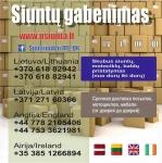 Siuntiniai  Anglija Lietuva Latvija Airija Škotija Estija