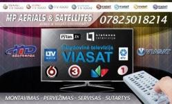 Profesionalus Viasat bei internetines televizijos montavimas