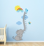 Baby Elephant Height Chart Wall Decal