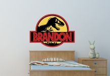 Jurassic Park Name Wall Decal
