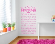 A True Princess Wall Decal Sticker