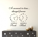 Wall art decal memory clocks