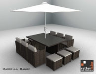 12 Seater Marbella Sofa Set For Your Home And Garden
