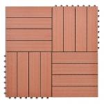 WPC Tiles 30x30cm 11pcs 1m2 Brown (40825)