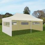 vidaXL Cream Foldable Pop-up Party Tent 3 x 6 m (41582)