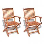 vidaXL Outdoor Dining Chair 2 pcs Acacia Wood (41819)