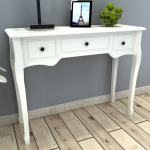 White Dressing Console Table with Three Drawers  (241143)