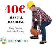 40 euro -Manual Handling course on Tuesday 24th and Thursday 26th October in Dublin 12- free parking