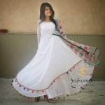 Online Light Pink Lashkara Anarkali at Rajkumari Dress Up Like A Princess.