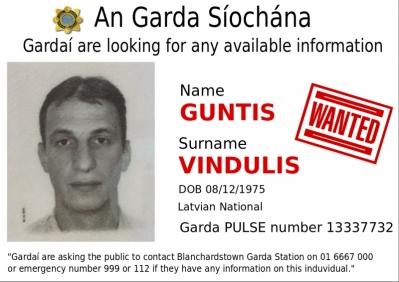 GUNTIS VINDULIS wanted by An Garda Síochána