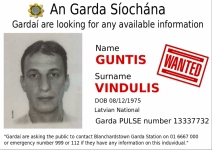 GUNTIS VINDULIS wanted by An Garda Síochána