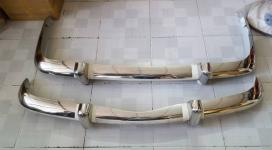 Volkswagen Karmann Ghia EU Style, EU Blade, 72-74 Stainless Steel Bumpers