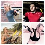 Suspension Strap Home Gym Workout Kit Includes Door Anchor Mount & Travel Bag