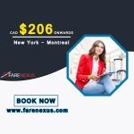 Return flight New York- Montreal $206