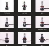 Wholesale 12V Car LED Headlight Bulb H4 H1 H3 H7 H9 H10 H11 H13 H15 H16 9004 9005 9006 9007 880 881