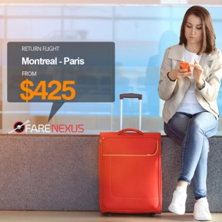 Book Return flight Montreal - Paris $425