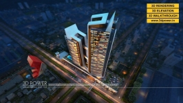3D high rise apartment rendering & walkthrough services by 3D Power