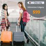 Cheap Air Tickets Edmonton-Calgary  $99 (One way)