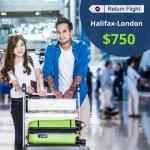Cheap Air Tickets Return Flight Halifax-London  $750