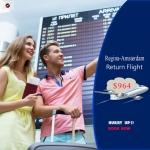 Cheap Air Tickets Return Flight Regina-Amsterdam $964