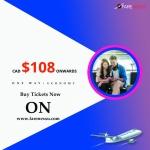 Cheap Air Tickets Ottawa-Toronto  $108 (One way)