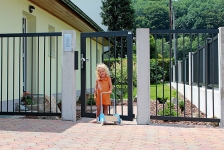 Aluminum fences and gates model PARMA