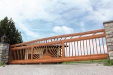Aluminum fences and gates model SIENA