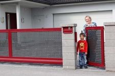 Aluminum fences and gates model CRACOW