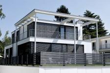 Aluminum fences and gates model LINEA