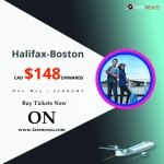 Cheap air tickets One Way Halifax-Boston from CAD $148